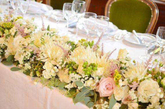 会場装花 高砂 結婚式花