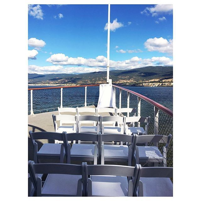 View of the Bow with Okanagan Lake behind. Venue: SS Sicamous, Penticton