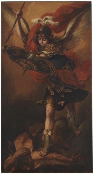San Miguel Arcángel // Ca. 1656 // Juan de Valdés Leal #StMichaelArchangel