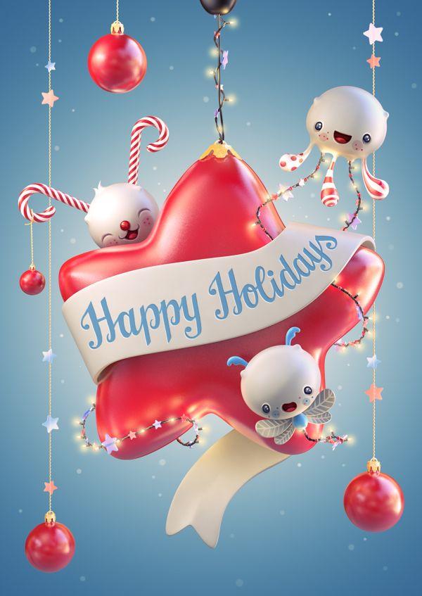 Happy Holidays 2014 on Behance