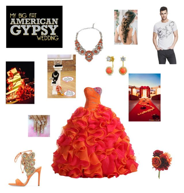 """""""My Big Fat American Gypsy Wedding"""" by ahsislife ❤ liked on Polyvore featuring René Caovilla, Valentino, Express, Reception, Bling Jewelry, women's clothing, women's fashion, women, female and woman"""