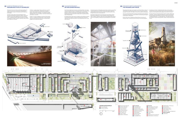 """Winning Proposals """"Reanimate the Ruins"""" of Detroit's Packard Motor Plant"""