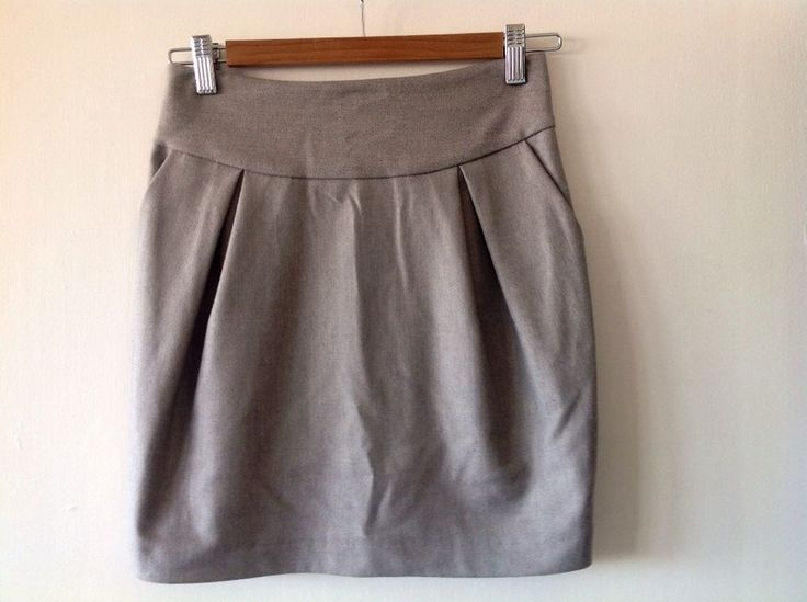 Ladies TopShop grey tulip skirt - mines checked