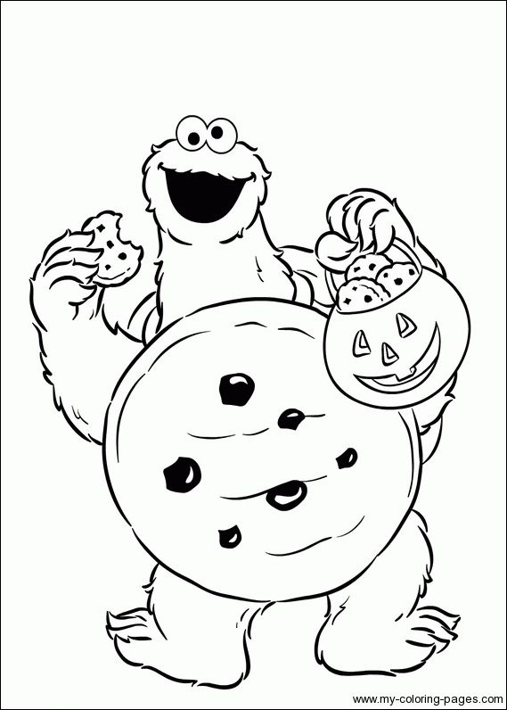 coloring pages cookie monster - photo#26