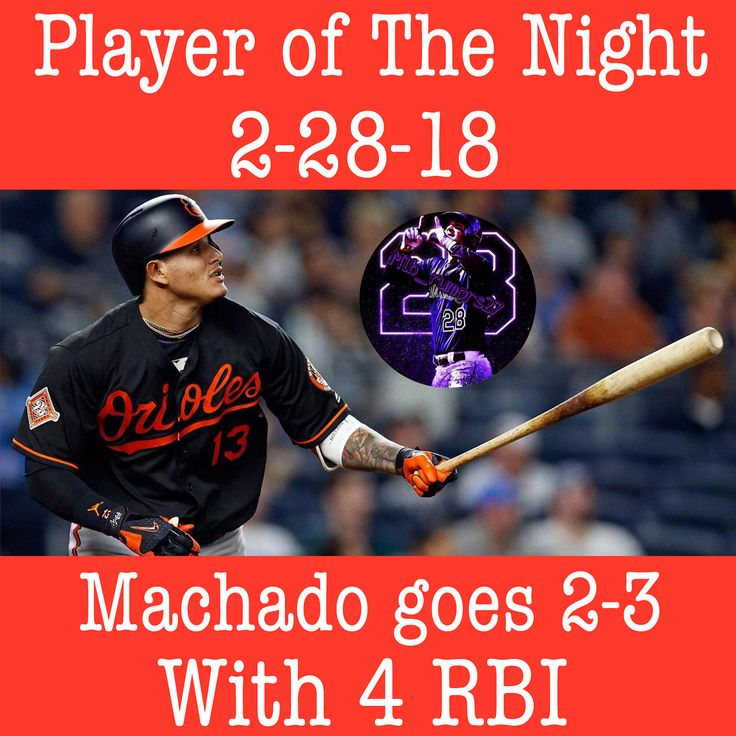 2-28-18: #orioles star 3B Manny Machado wins the Player of The Night going 2-3 with a grand slam a single and a flyout. Machado got all 4 of his RBIs on the grand slam. His effort was not enough as Baltimore still lost the game by a score of 10-9 to the #cardinals. The Os record goes to 1-5 in spring and St. Louis improves their spring record to 3-3. SWIPE: There is a video of Machados slams slam. Follow me @mlb_rumors27 for a shout…