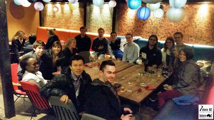 This is a group photo from our Wellington Social last weekend! For internships in NZ: http://www.internnzoz.com #internship #abroad #student #travel #wellington #newzealand #internnz
