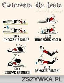 Ćwiczenia dla lenia  #ćwiczenia #doroboty #zszywka #łatwe