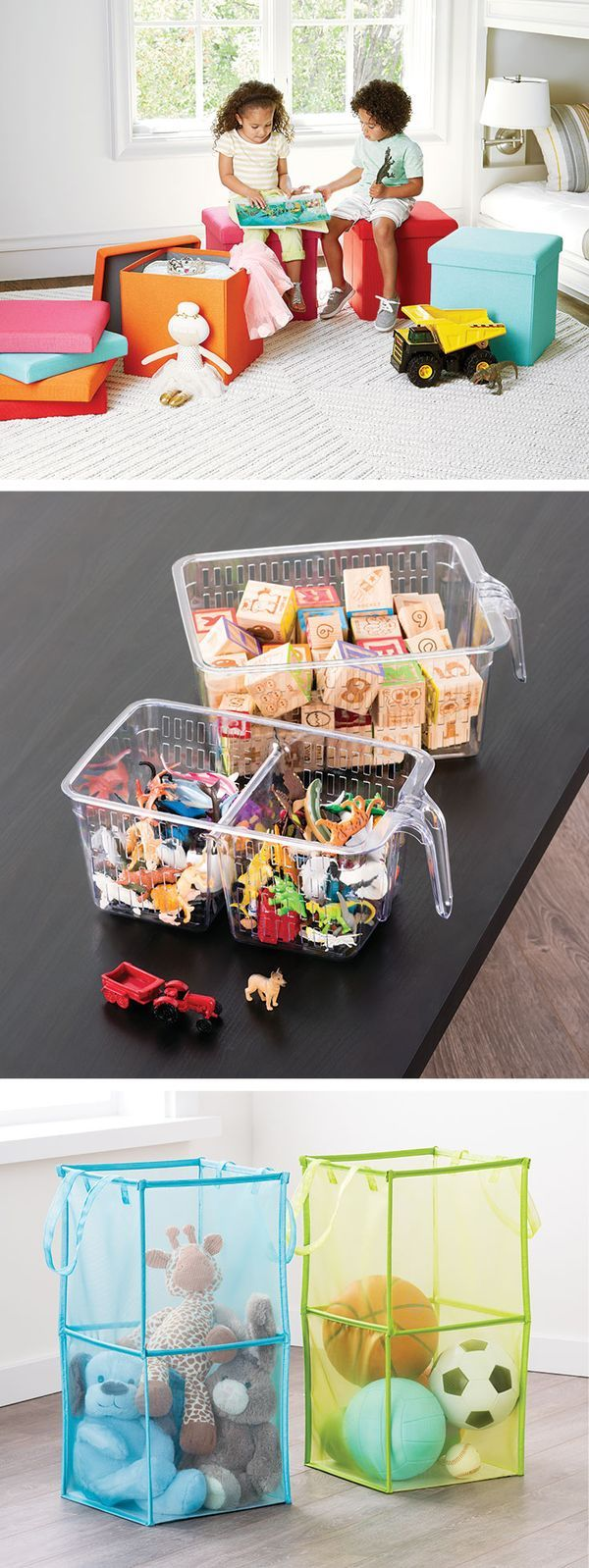 Toy Storage Is Childu0027s Play With Poppin Box Seats, Handled Baskets And Our  Double Folding