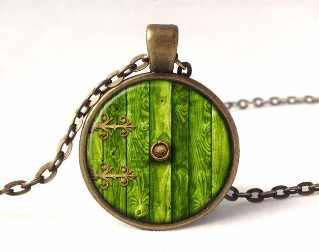 Lockets – HOBBIT DOOR Necklace, LOTR Pendant, 0332PB – a unique product by EgginEgg on DaWanda