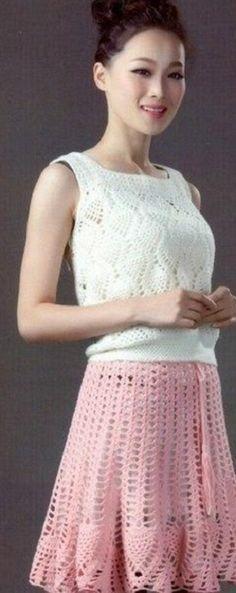 Crochet woman's top