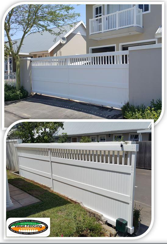 Value Fencing Pvc Gates Driveway Sliding 3 Value Fencing
