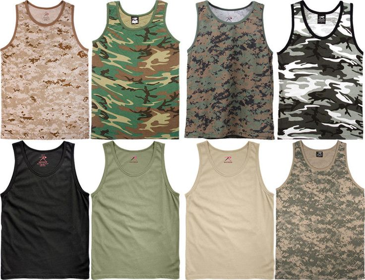 Camouflage Tactical Military Top Army Camo Tank Top #Rothco #TankTop