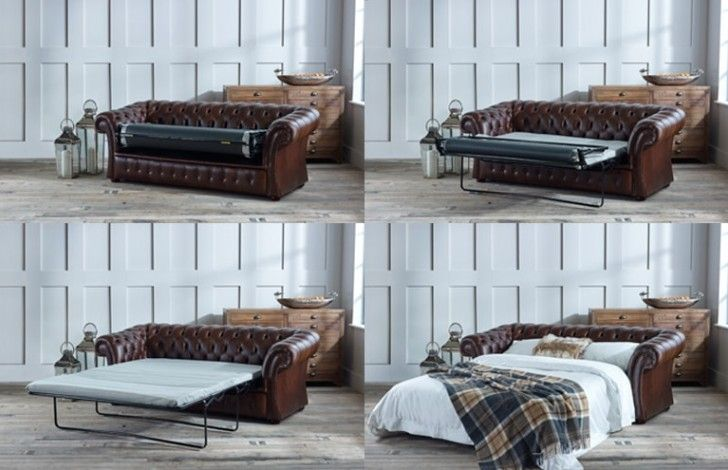This Gladbury Traditional Sofa Bed is made from the top 5% of British hides  The 3 seater Gladbury Traditional Sofa bed is handcrafted, from premium materials by our expert craftsmen, right here in the UK. The Gladbury would make a sober impression in any traditional living room, with a luxurious deep buttoned back and sides with cushioned seats, its solid wooden feet complete this reserved Leather Chesterfield.