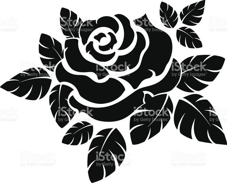 silhouette di rosa illustrazione royalty-free