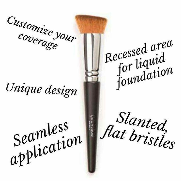 Liquid Foundation Brush $32.00 <3 Uniquely-designed brush with recessed area lets you adjust your liquid foundation coverage for a seamless application. Place liquid in recessed area and, using, short, quick strokes, brush over face for seamless, controlled foundation application.