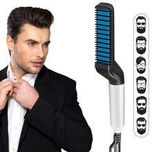 Herren, Bartglätter, Kamm, professioneller, schneller Haarstyler, multifunktionaler Haarkamm, Lockenstab, magischer Massagekamm, Bart