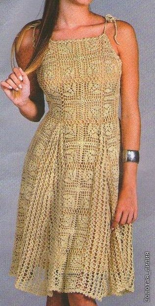 crochet dress ♪ ♪ ... #inspiration #crochet #knit #diy GB http://www.pinterest.com/gigibrazil/boards/