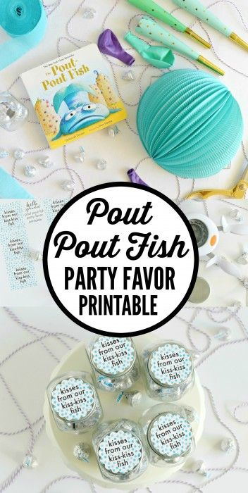 DIY Pout Pout Fish Party Favor Printable - make the cutest, inexpensive Pout Pout Fish party favors with this free printable.