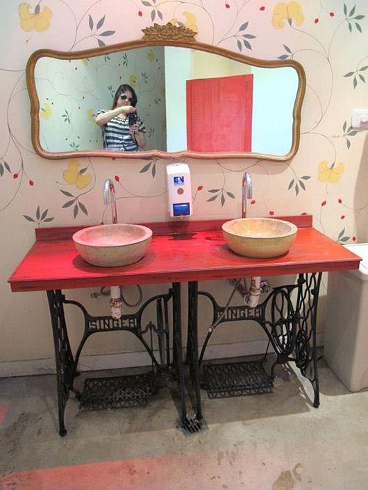 Bancada de lavabo pezinho máquina de costura Inspiração Do Dia | - Página 13