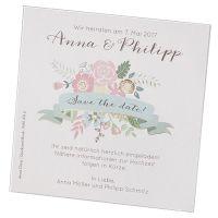 Moderne Save the Date Karten in trendiger Optik vor der Hochzeit bestellen!