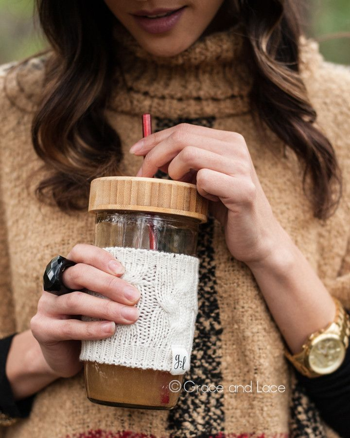 Grace and Lace Cabled Cup Cozy™