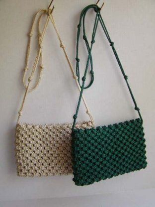 ***MODERATE SKILL. MODERATE to HIGH COST. Cost depends on how big you want to make the purse or how many colors you use. I made a small purse as practice and applied my lessons learned to a larger bag I used for overnight. It took some time but turned out great.*** Macrame Purses, cute easy gifts!