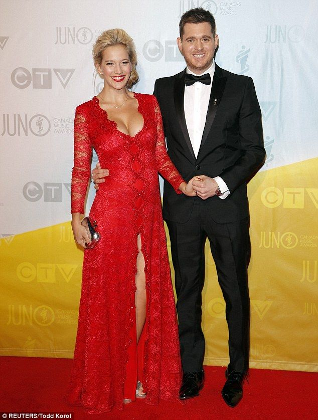 Ravishing: Michael Buble poses with his pregnant wife Luisana Lopilato at the Juno awards in Canada ~ April 2013