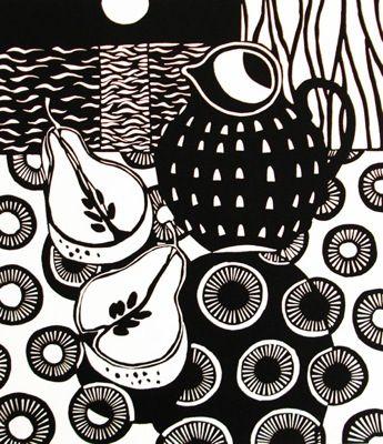 Jane Walker   Linocut print