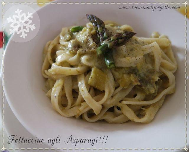 la cucina di Jorgette: Fettuccine agli Asparagi!!!