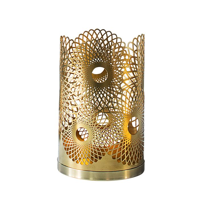 Feather Candle Holder H14cm, Brass, Skultuna