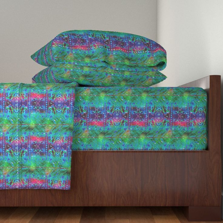COLORFUL AFRICAN PRINT RAINBOW FEATHER STRIPES on Langshan by paysmage | Roostery Home Decor