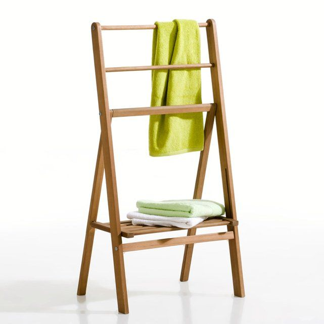 LOCUSTE Folding Acacia Towel Rail La Redoute Interieurs : price, reviews and rating, delivery. Locuste folding acacia towel rail. Super practical in the bathroom for the whole family! The easily accessible lower shelf is perfect for clean towels, whilst the 3 rails allow damp towels to dry off quickly. Description: Easily accessible lower shelf 3 rails Size of towel rail: Width 55 cm Height 104 cm Depth 35 cm.