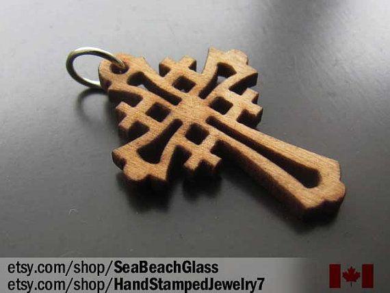 Catholic Jewelry. Olive Wood Cross. Wooden Cross. by SeaBeachGlass, $8.00
