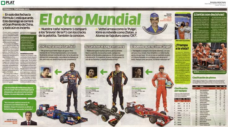 FOX Sports: Entrevista a Adrián Puente sobre el Gran Premio de China en el diario Depor de Perú (04/04/13)