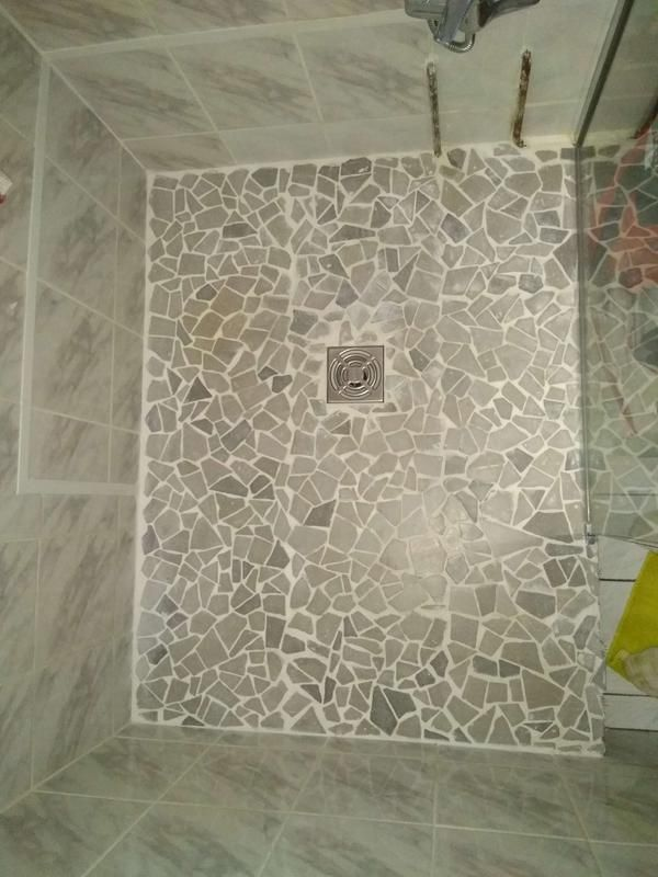 Galets Sol Et Mur Opus Creme Leroy Merlin Avec Images Sol Et Mur Deco
