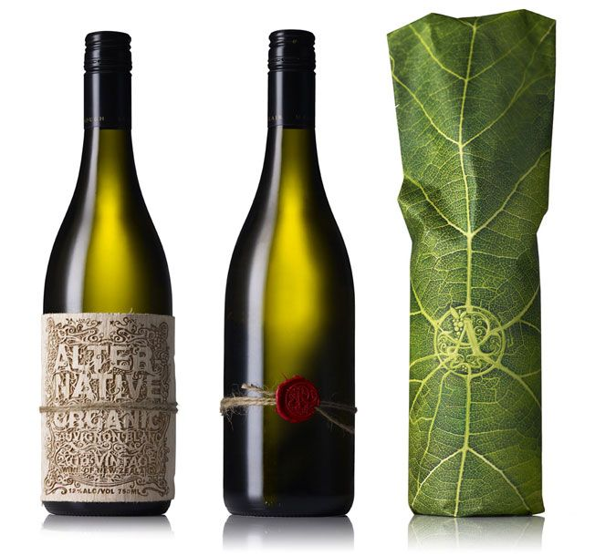 Alternative Organic wine packaging by the Creative Method