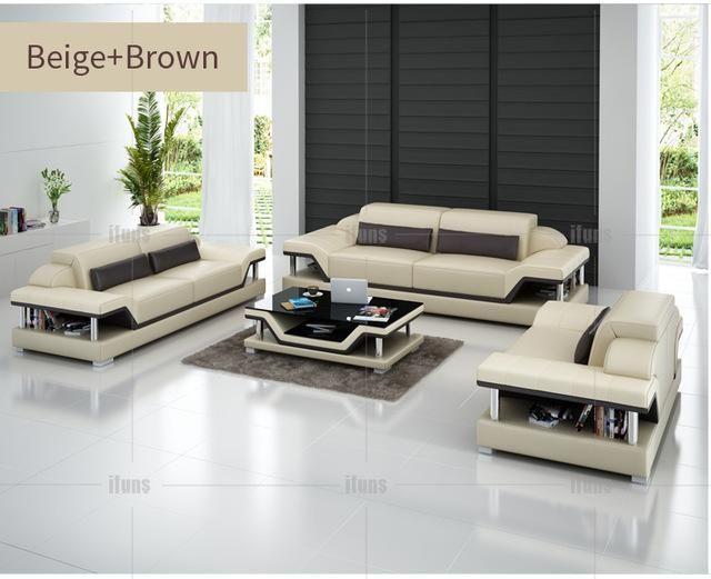 Ifuns Modern Sectional Sofa Genuine Italian Leather U Shaped Luxury Sofa Sets Living Room Furniture 1 2 3 Large House F Leather Sofa Set Sofa Set Leather Sofa