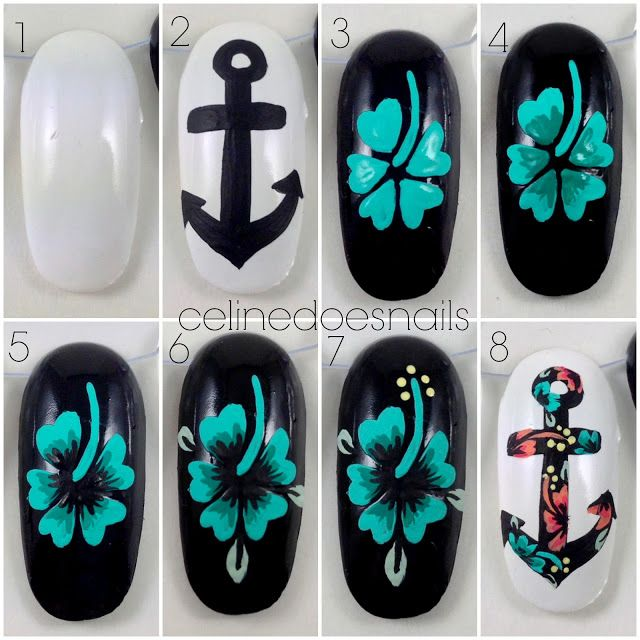 Nails By Celine: (Another!) Anchor Tutorial