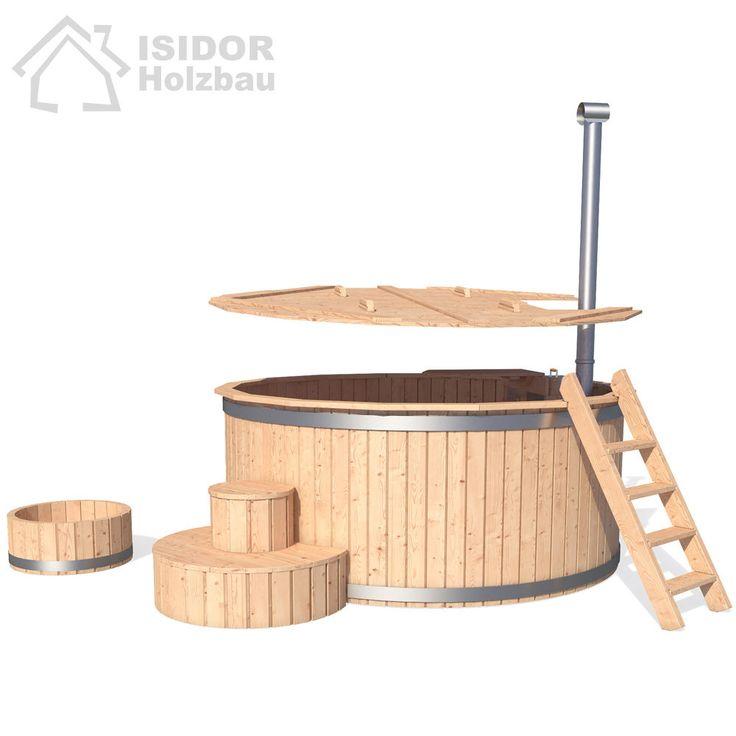 ISIDOR Badezuber Badefass Badetonne Badebottich Whirlpool Outdoor Hot Tub Sauna in Heimwerker, Sauna & Schwimmbecken, Außenwhirlpools | eBay!