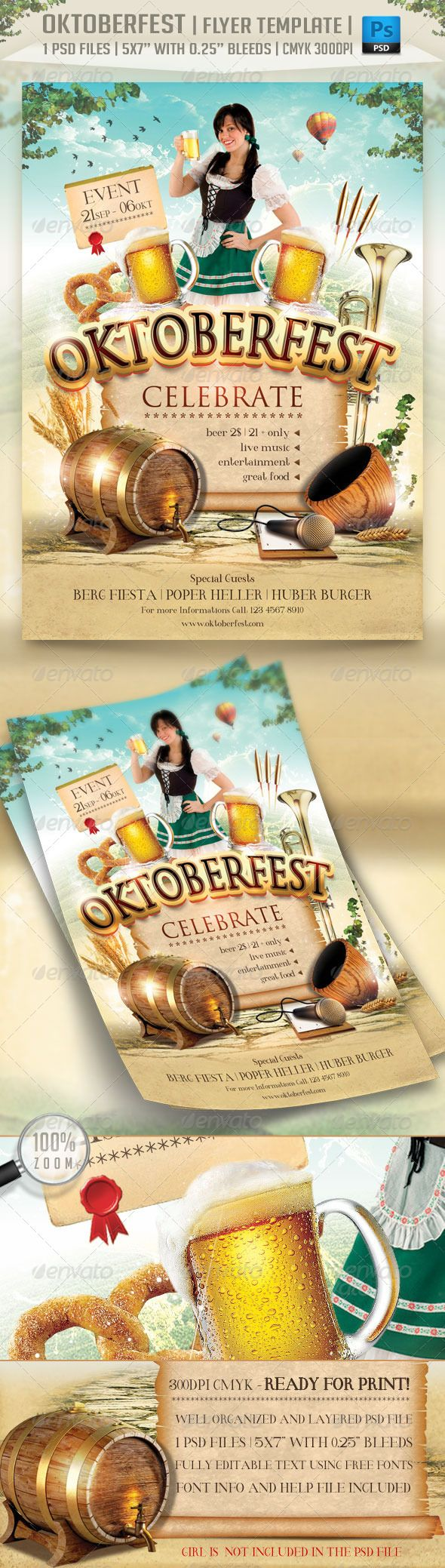 17 best images about flyers disco club party oktoberfest flyer template