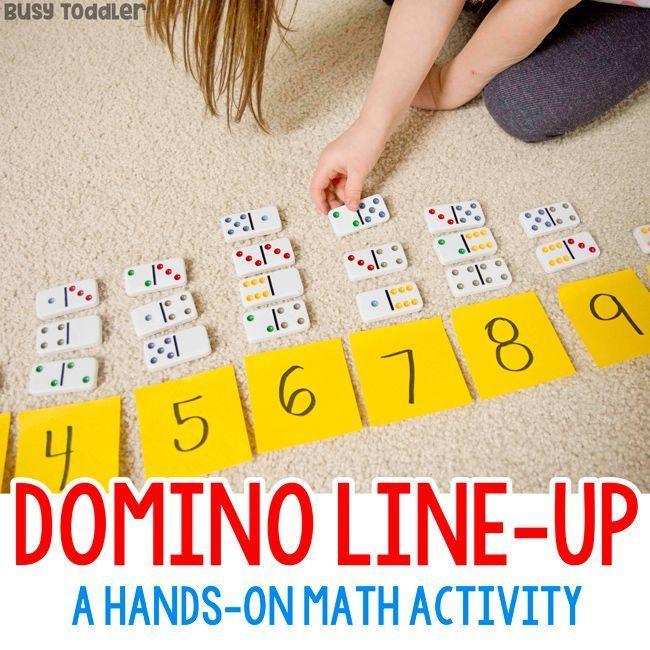 Domino Line-Up Preschool Math Activity – #Activity #Domino #LineUp #Math #Presch…
