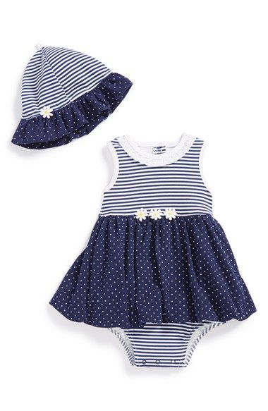 Little+Me+Bubble+Dress+&+Sun+Hat+(Baby+Girls)+available+at+#Nordstrom