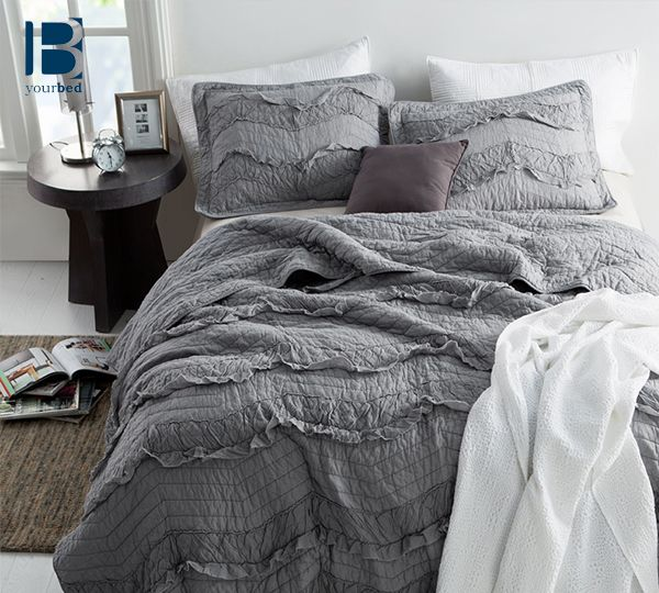 Gray Double Comforter : Best ideas about chevron bedding on grey