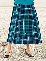 """I have received serveral compliments on it and I have only wore it once so far"" ~ Janesville, WI customer on our Plaid Pleated Skirt by Bedford Fair"