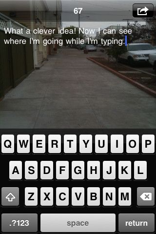 walk while you text app--clever