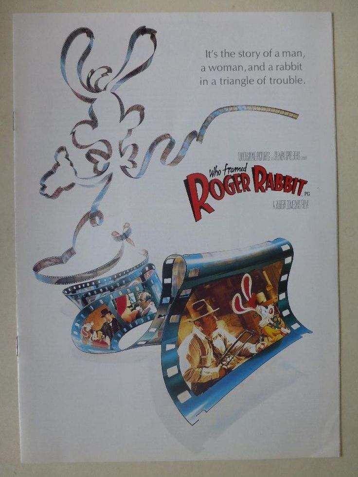 Roger Rabbit 1988 (Bob Hoskins) Press Release Brochure Synopsis Games Cast etc  http://r.ebay.com/FcFfTk