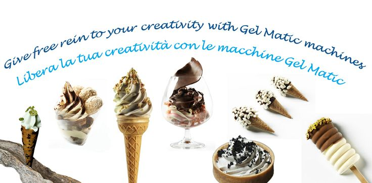 Give free rein to your creativity with Gel Matic machines.