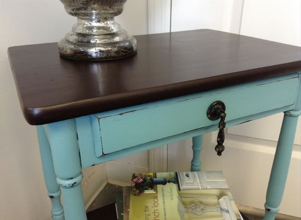 JAVA GEL | How to Apply Java Gel Stain by General Finishes |  + Provence Chalk Paint™ by Annie Sloan http://www.interiorstoinspire.com/javagel