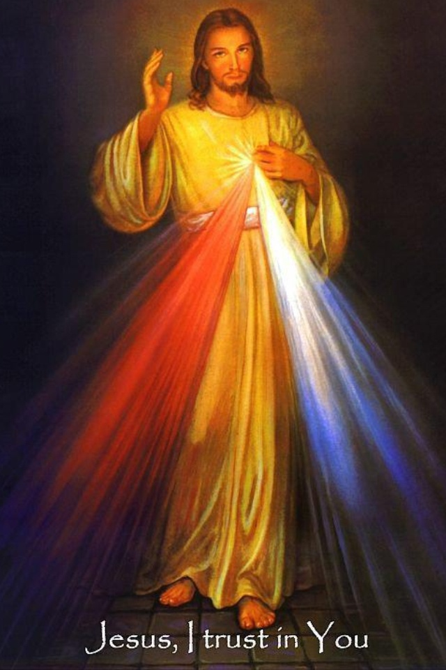 """This beautiful prayer card has the Divine Mercy image on the front of the card, with the text at the bottom: """"Jesus, I trust in you"""". Choose one of our prayers or have your own information printed on the card! ... """"Good Jesus, extend to us the mercy you showed to our father, St. Paul here in this life so that we may merit to be with him in the heavenly kingdom Amen. prayer said often by Mother Thecla Merlo daughtersofstpaul .com"""