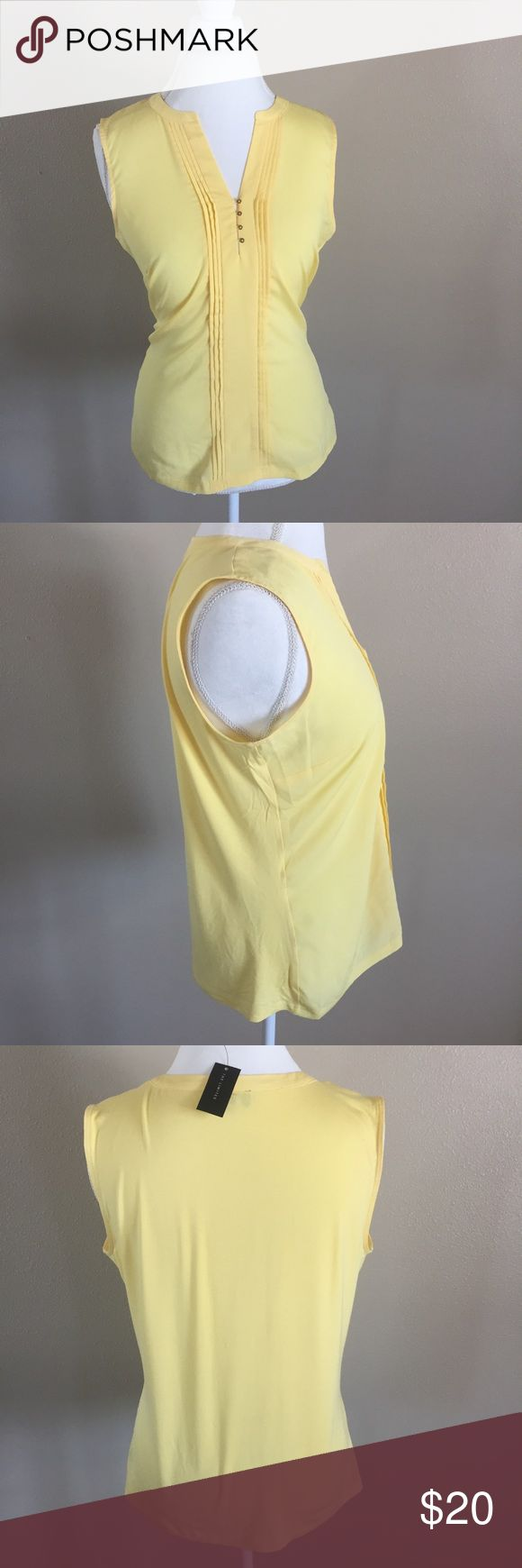 🆕 The Limited Yellow Tank Top NWT Adorable yellow tank top perfect for work, vacation or a night out. NWT. Size L. No trades. The Limited Tops Tank Tops